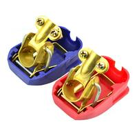 Brass ABS Quick Release Battery Terminal Clamp For Car Boat Motorhome Red Deep Blue