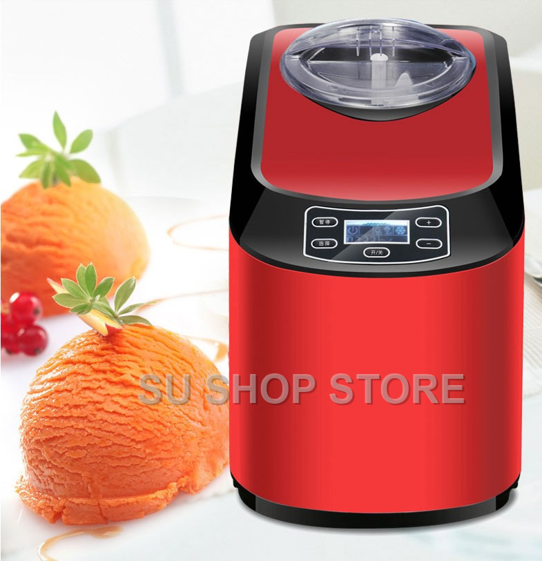 1PC Home Full Automatic ICM-15A Mini Ice Cream Machine Household Intelligent Ice Cream Maker 1.5L Capacity 140W Ice Cream Makers