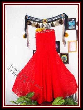 Lace tribal Latin dance tango skirt Steampunk, Boho, Bohemian, Gypsy, Renaissance, Belly Dance DV18