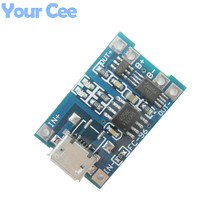 5 pcs Micro USB 5V 1A 18650 TP4056 Lithium Battery Charger Module Charging Board With Protection Dual Functions 1A Li-ion(China (Mainland))
