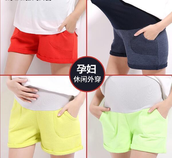 2016 del cordón del verano pantalones cortos de mezclilla de maternidad para las mujeres embarazadas rectificado jeans blancos pantalones cortos desgastados pantalones de maternidad embarazo