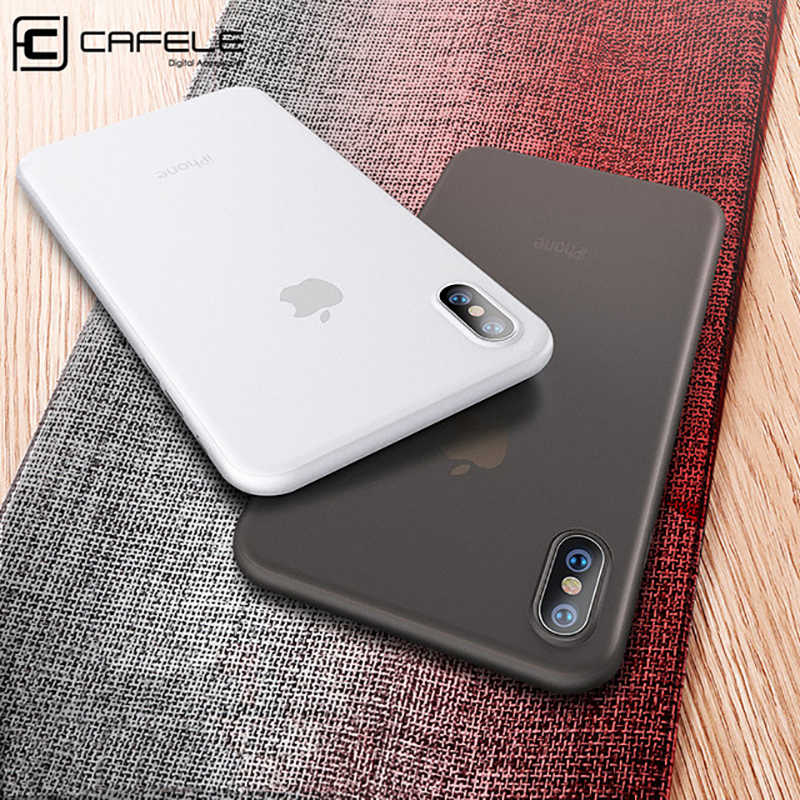 Cafele pp caso de telefone para iphone5 se 5S 6 plus ultra fino super magro transparente cor volta caso para iphone xs anti impressão digital