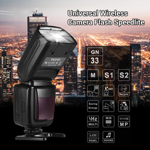 Image 3 - for Canon Nikon Sony Olympus Pentax DSLR Camera Universal Wireless Camera Flash Light Camera Speedlite GN33 LCD with Mini Stand