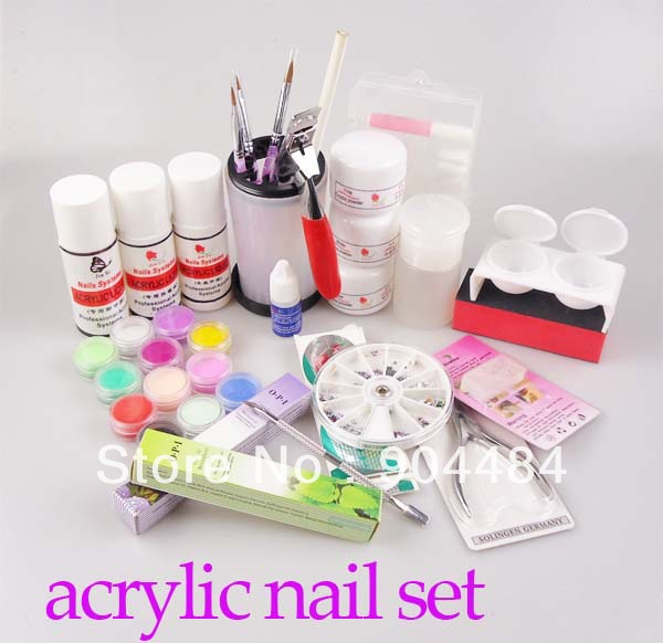 Acrylic Powder Set Diy Nail Art Kit With Powder Liquid Glue Full Combo Art Decorations