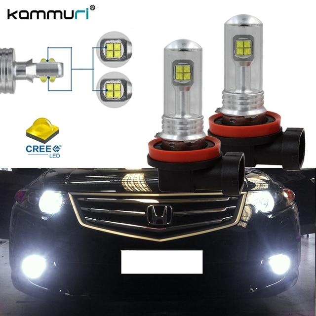2pcs 6000K White H8 H11 LED Fog Lights Driving DRL Lamps For HONDA Accord Crosstour Civic CR-V CR-Z Fit Odyssey Pilot Ridgeline