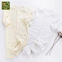 Baby Kids Long Rompers Sleepwear Soft Beige Yellow Unisex Fiber thin Light Breathable for Summer Boys & Girls детская о