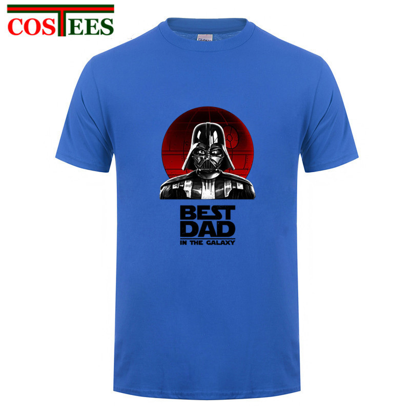 Mens Funny T Shirts-Best Dad in Galaxy Star Wars Inspired tshirt-Long Sleeve 028