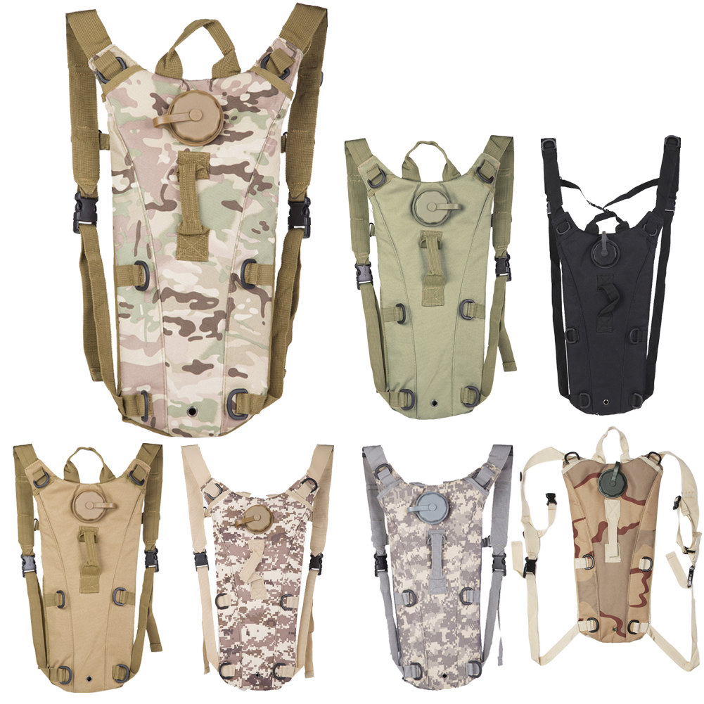 3L Portable <font><b>Hydration</b></font> Packs Camo Tactical Bike Bicycle Camel Water Bladder Bag Assault Backpack Camping Hiking Pouch Water Bag