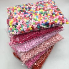 Pompom Wholesale 10mm 2000pcs Päls Plush Ball for Craft DIY Mjukt Bröllop Heminredning Garment Sy på Cloth Tillbehör