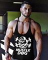 Mens Gyms Tank Top Muscle Dog Brand Clothing Male Bodybuilding Fitness Vest Stringer Crossfit Undershirt M-2XL