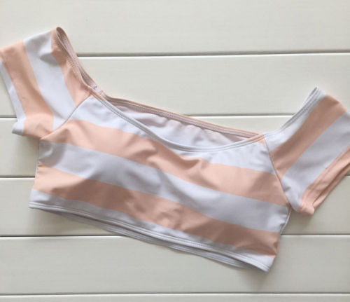 Black Friday Deals Women Two-piece Push Up Padded Bra Bikini Set Swimsuit Ladies e Stripes Swimwear Bathing Suit Clothing
