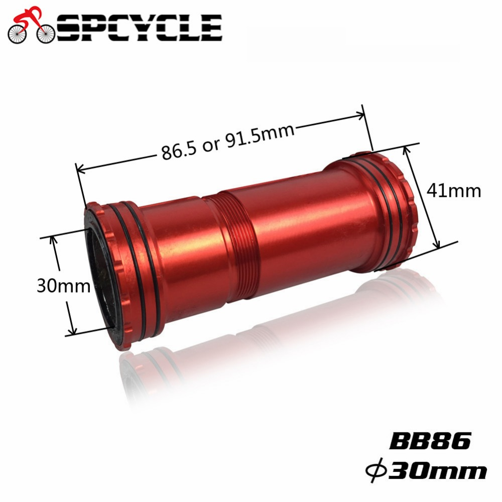 Spcycle BB86 BB90 BB92 30mm Press Fit Bottom Brackets For Road MTB Mountain Bike 30mm Crankset 4 Bearings BB92 41*30mm