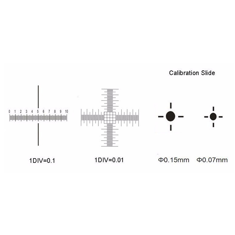 0.01mm Microscope Stage Micrometer Cross Dot 0.01mm Microscope Calibration Slide Ruler
