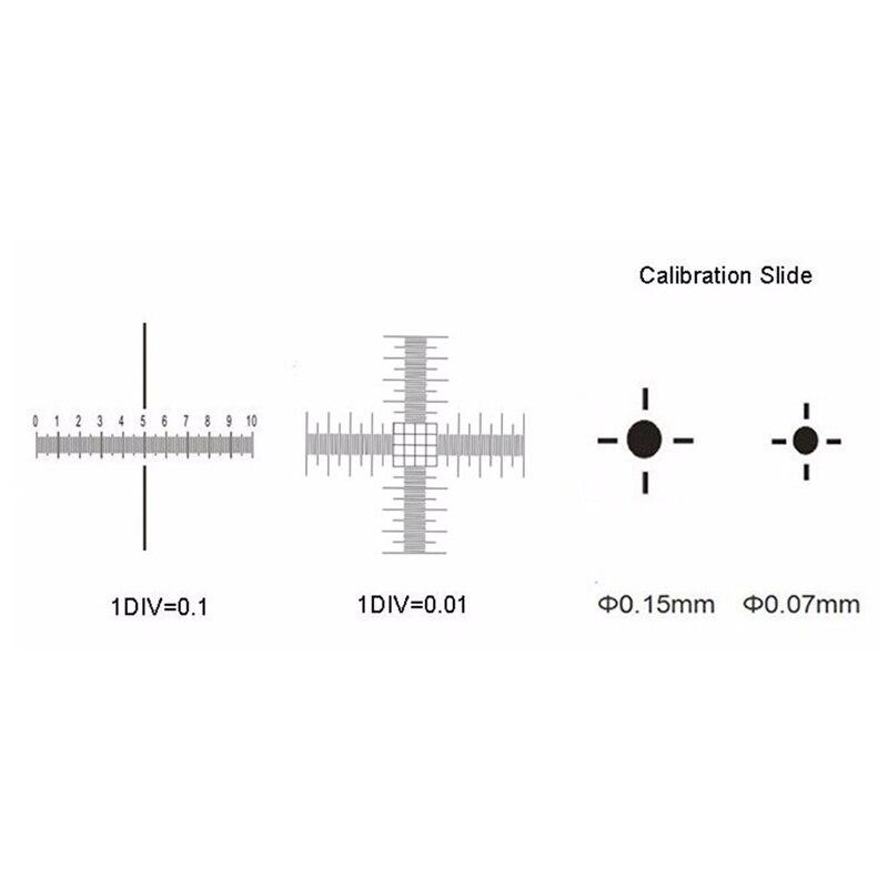 0,01mm Mikroskop Bühne Mikrometer Kreuz Dot 0,01mm Mikroskop Kalibrierung Slide Herrscher