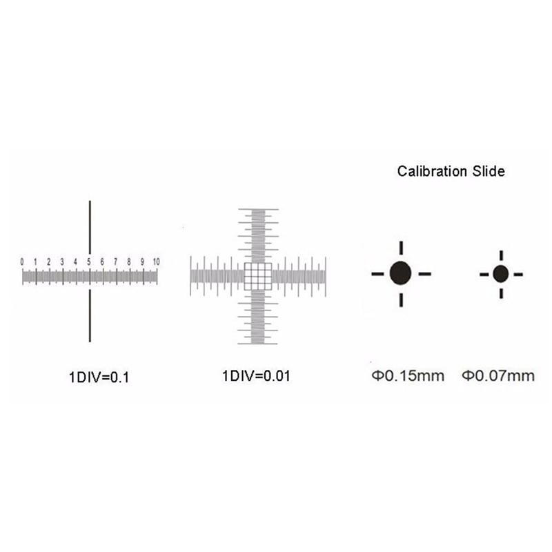 0.01mm Palco Microscopio Micrometro Croce Dot 0.01mm Microscopio di Calibrazione Righello