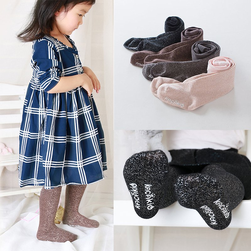 5 colors Toddler Infant Kids Warm Pantyhose Baby Girls Solid Soft Stretch Tights ...