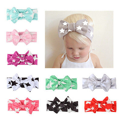 Cute Baby Headwear Accessories Kids Boy Girl Baby Headband red black pink Toddler Star Print Bow Flower Hair Band Accessories 1pc soft lovely kids girl cute star headband cotton headwear hairband headwear hair band accessories 0 3y hot