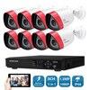 SUNCHAN HD 1 3MP AHD 1500TVL Outdoor CCTV Surveillance System 8CH 1080P AHD DVR Hybrid Kit