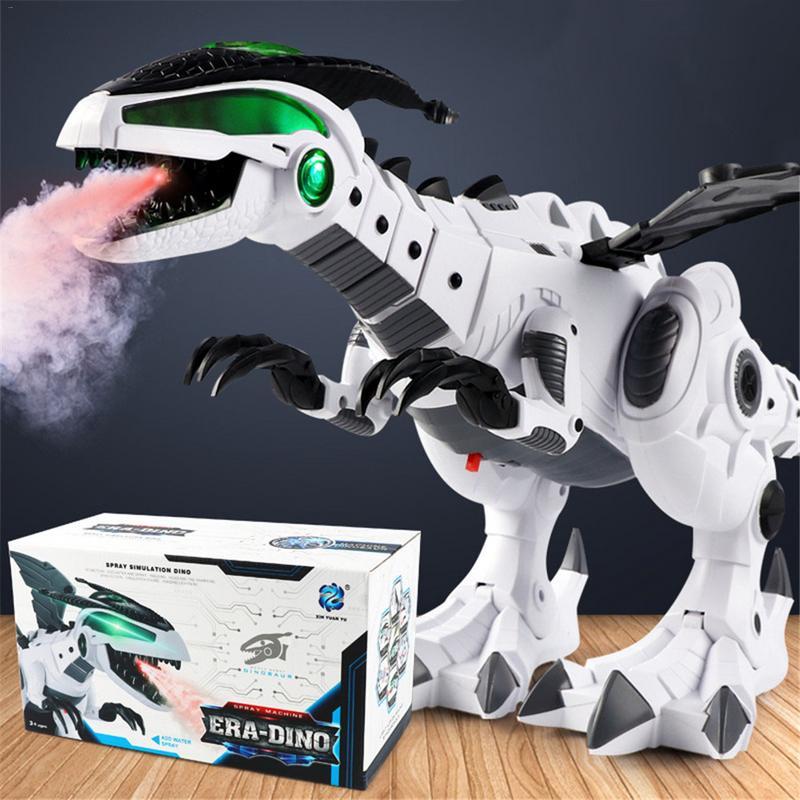 Dinosaur toys for kids White Spray Electric Dinosaur Mechanical Pterosaurs Dinosaur World Toy for boy girl 2018 new arrival цены онлайн