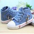 2016 nova chegada 25 - 37 crianças lona sapatilhas Flats meninos meninas botas Jeans crianças Jeans Plimsolls sapatos esportes, Yj021