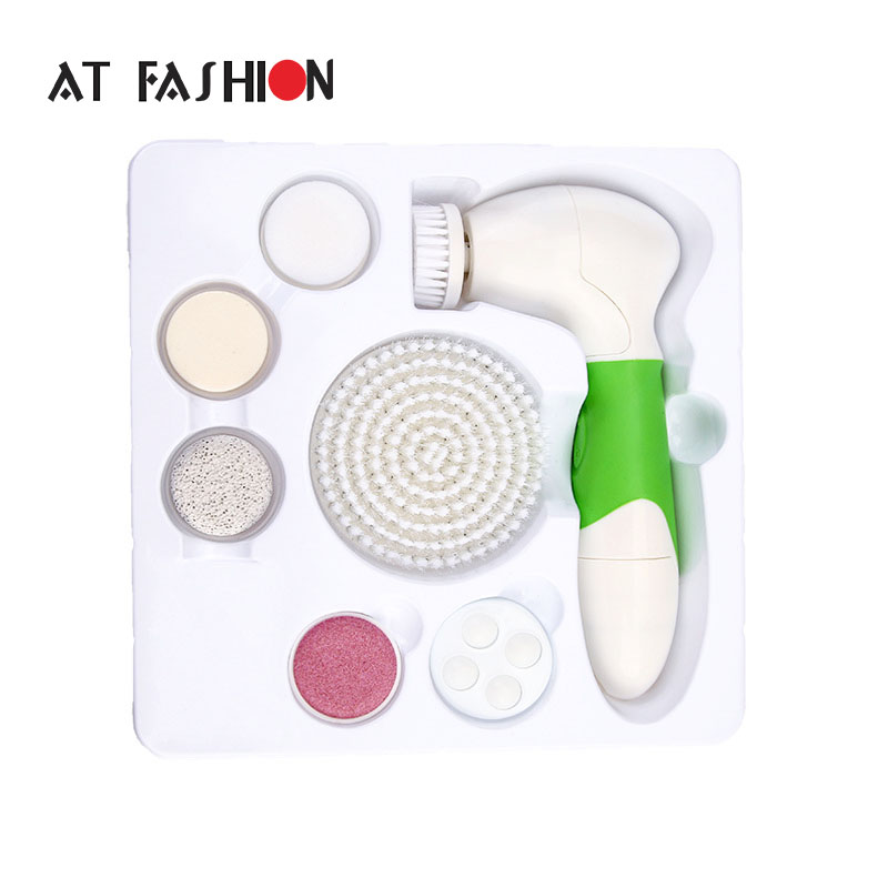 7 In 1 Electric FaciaL Cleanser Face and Body Nursing Cleaner Electric Device-Skin Scrubber Face Skin Brush Massage Deep Clean 7 in 1 electric facial cleanser face and body nursing cleaner electric device skin scrubber face skin brush massage deep clean