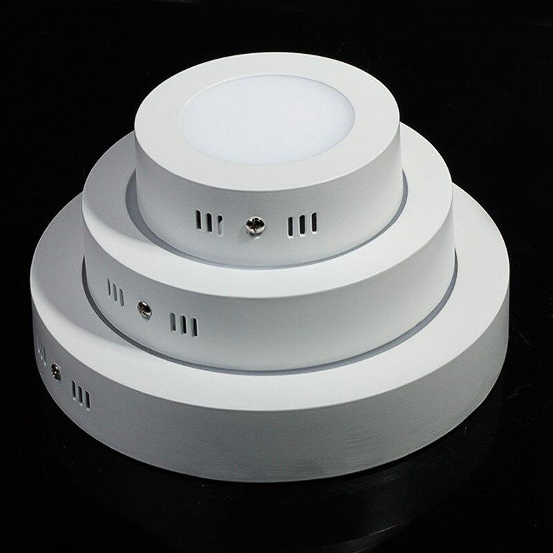 7000k Bright Light 18w Led Ceiling Light Round Flush Mount: Round/Square Surface Mounted LED Panel Light 12W SMD2835