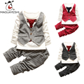 2016 New Spring Baby Clothing Set Genltleman Bow Tie Children'S Clothing Set Long Sleeve T-Shirt+Pants Outfits Boys Clothing