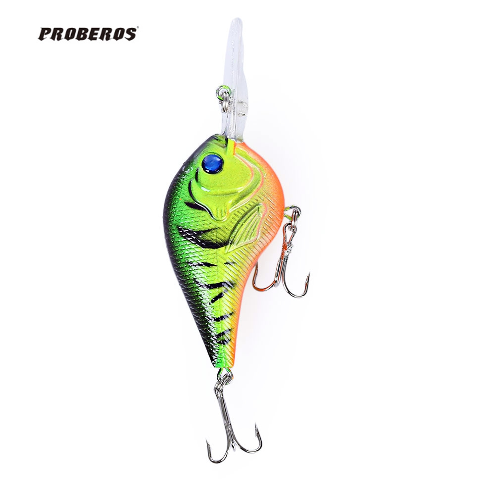 Pro beros 1pc outdoor fishing lure deep swimming crankbait for Outdoor fishing