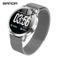 2019New SANDA smart watch women man business fashion LED display screen multi function watch luxury brand waterproof smartwatch