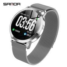 2019New SANDA smart watch women man business fashion LED display screen multi-function luxury brand waterproof smartwatch