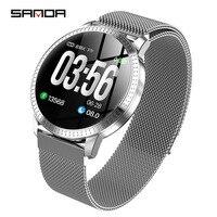 2019New SANDDA smart watch women man business fashion LED display screen multi function watch luxury brand waterproof smartwatch