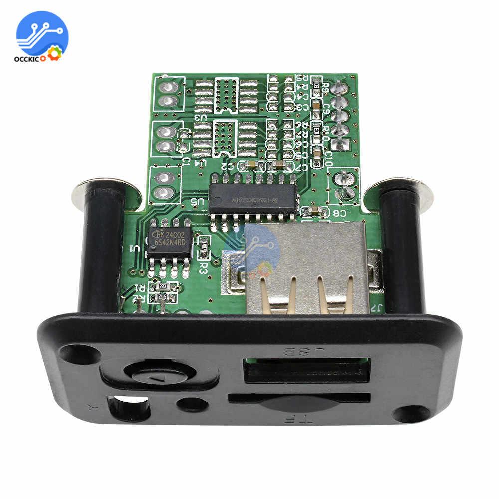 وحدة MP3 الصوت USB TF راديو FM وحدة 5 فولت 7-12 فولت MP3 WMA فك مجلس فقدان MP3 المتكلم وحدة للسيارة