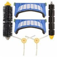 Novo durável aspirador de pó peças filtro escova 6 peça kit ferramenta para irobot roomba série 600 610 620 630 640 650 660 670 680|Peças p/ aspirador de pó| |  -