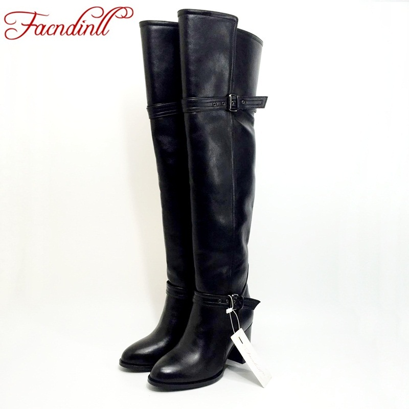 FACNDINLL winter shoes fashion buckle shoes women knee high boots classic designer women black shoes leather thigh high boots the new puma womens shoes classic high classic star high tongue series white leather laser badminton shoes
