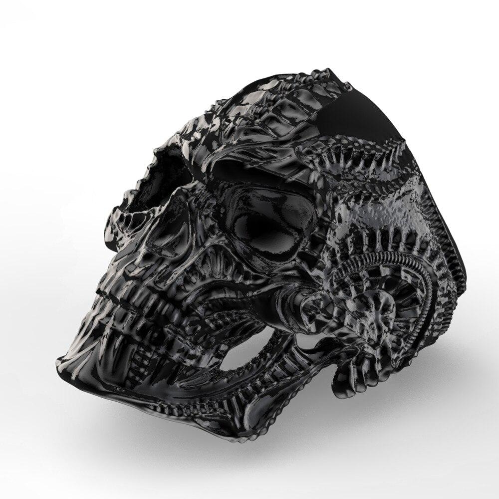 316L נירוסטה Alien גולגולת טבעת לגברים