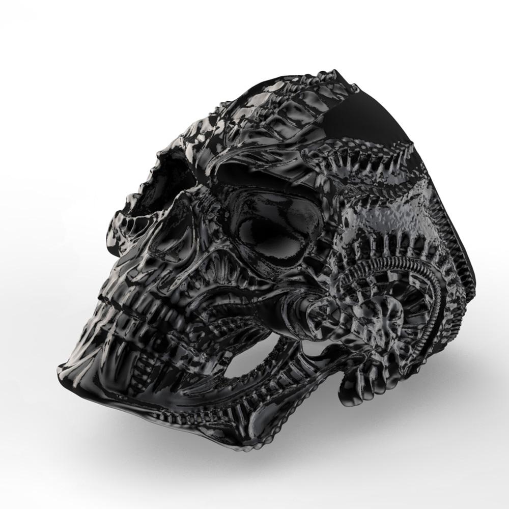 Hot Seller Eejart 316l Stainless Steel Alien Skull Ring For Men Cus Projector In226