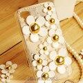 3d bling pérola rhinestone daisy phone cases para iphone 5s se 6 6 s plus 7 plus samsung s5 s6 s7 edge plus nota 3 4 5 7 caso cobrir