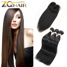 Human Hair Weave Direct Selling 2016 Hot 8a Malaysian Straight With Closure 3 Bundles Jet Black Human Hair With Stema Company