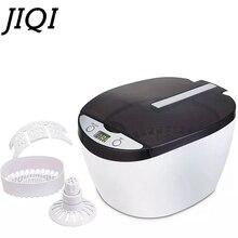 JIQI 600ml Digital Ultrasonic cleaner Wash Bath Tank Sterilizer watch Glasses Jewelry Mini Denture Ultrasound Cleaning machine