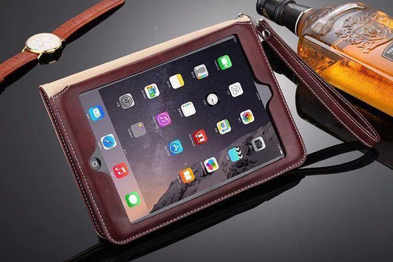 Luxury Leather Case For iPad Air 2 Air 2 Hand Holder Strap Business Book Cover For Apple ipad 2017 2018 Smart Protective Case (7)