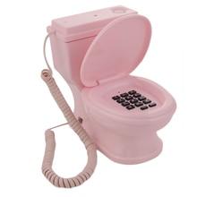 Новый Творческий Шнур Туалет Телефон для дома телефон Наземной Линии 1 Главная Стол Телефон Мода Подарок Dropshipping