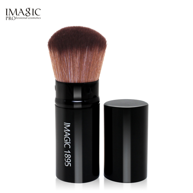 IMAGIC profesional retráctil maquillaje Blush cepillo de polvo cosmético ajustable en polvo Fundación cosméticos cepillo de polvo de herramientas