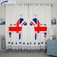 Senisaihon Korean 3d Blackout Curtains Cartoon Red Zebra Pattern Thickened  Fabric Children Bedroom Tuell Curtain For Living Room Part 40
