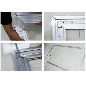 "Image 3 - ALR PVC Grau Kristall Dünne Rahmen Projektor Bildschirm 133 ""Ultra dünne Grenze Festen Rahmen Anti licht Projektion bildschirme"