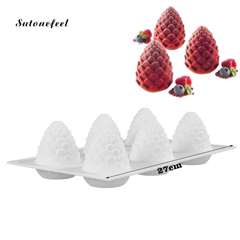 Ananas Form Silikon Form für Backform Mousse Dessert Mold Kiefer kegel Kuchen Seife Formen für Kuchen Dekorieren Werkzeug