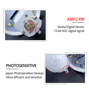Image 5 - Lámpara LED de noche E27 con Sensor de movimiento PIR, iluminador de encendido/apagado, bombilla LED B22, Detector de movimiento corporal, Luminaria