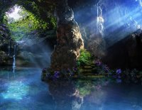 Mermaid Cave Water Throne Fantasy Fairy Tail Composite Stock lake background Computer print wedding backdrops