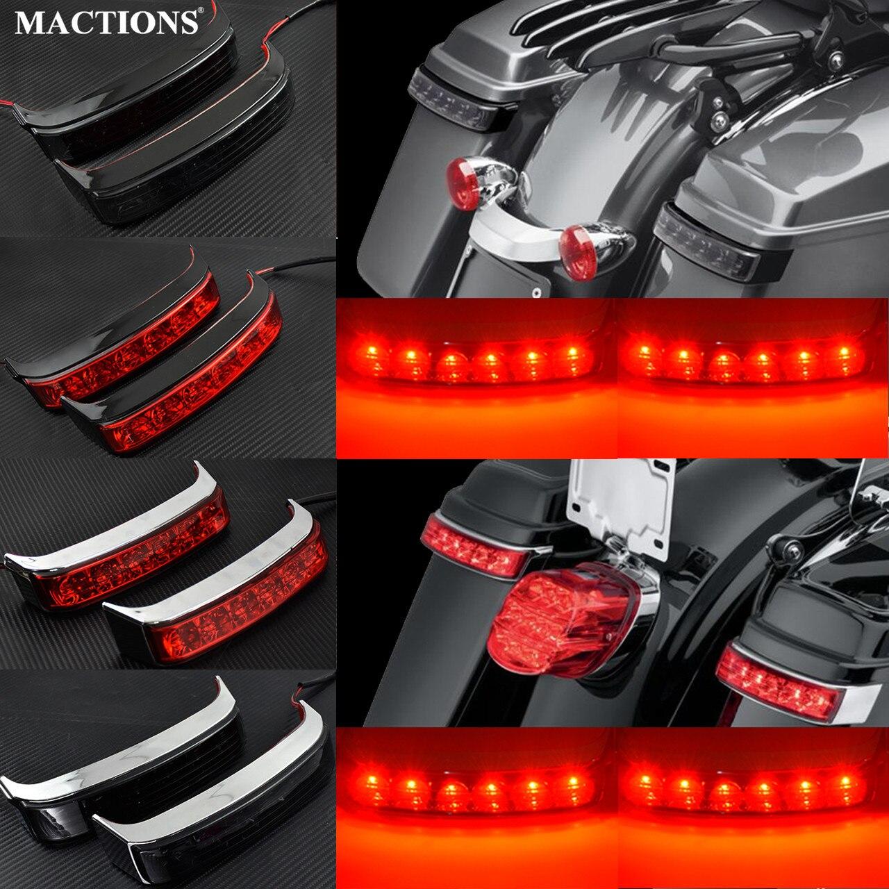 Saddle Bag Luggage Tail Turn Signal Light Running Lamp For Harley Touring Road King FLHR 2014-2018 CVO Limited FLHTKSE 2014