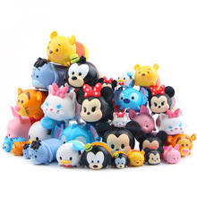 30pcs/lot Hot New Cute Figure Cartoon Toys Mini Cute Cat Mickey Tigger Minnie Cute Action Figures Home Decor Toys for Children