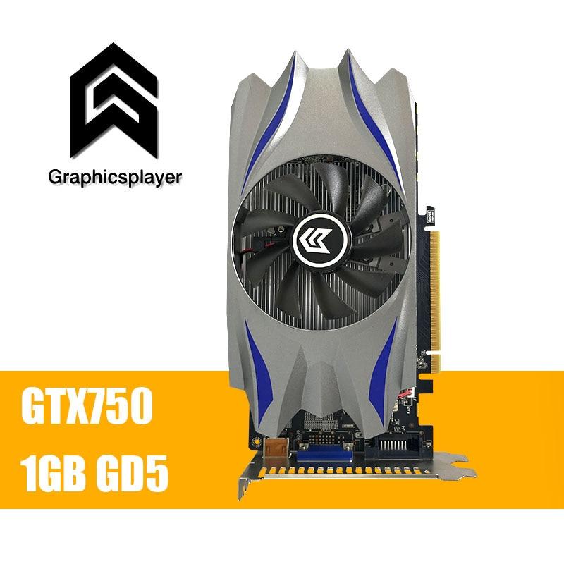 Carte graphique GTX 750 1024 MB/1 GB 128bit GDDR5 VGA Placa de Vidéo carte graphique Carte Vidéo pour NVIDIA Geforce PC ventilateur